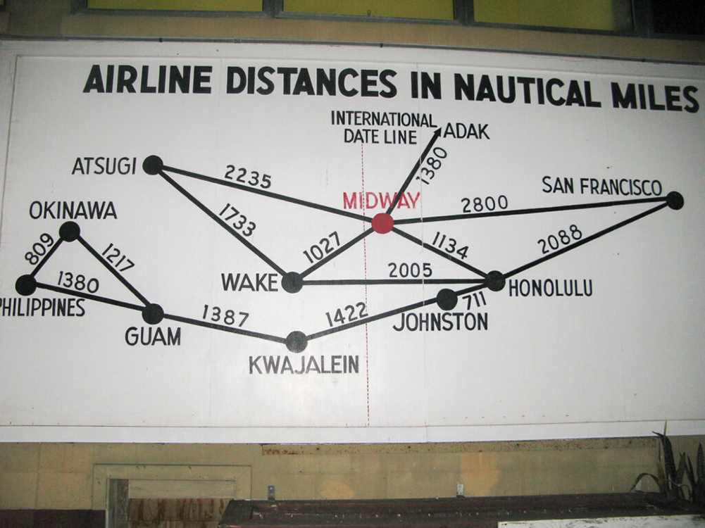 Midway Atoll flight map