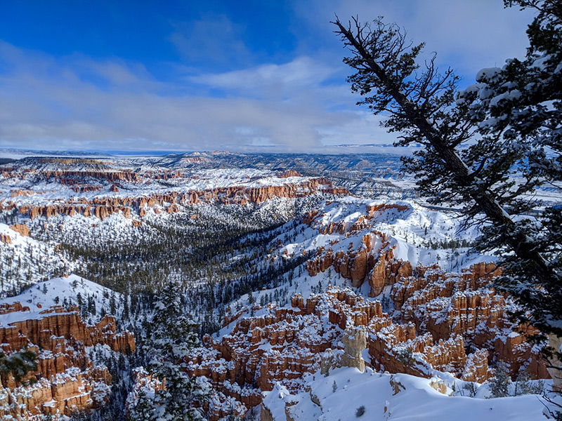 View of Bryce Canyon in Winter