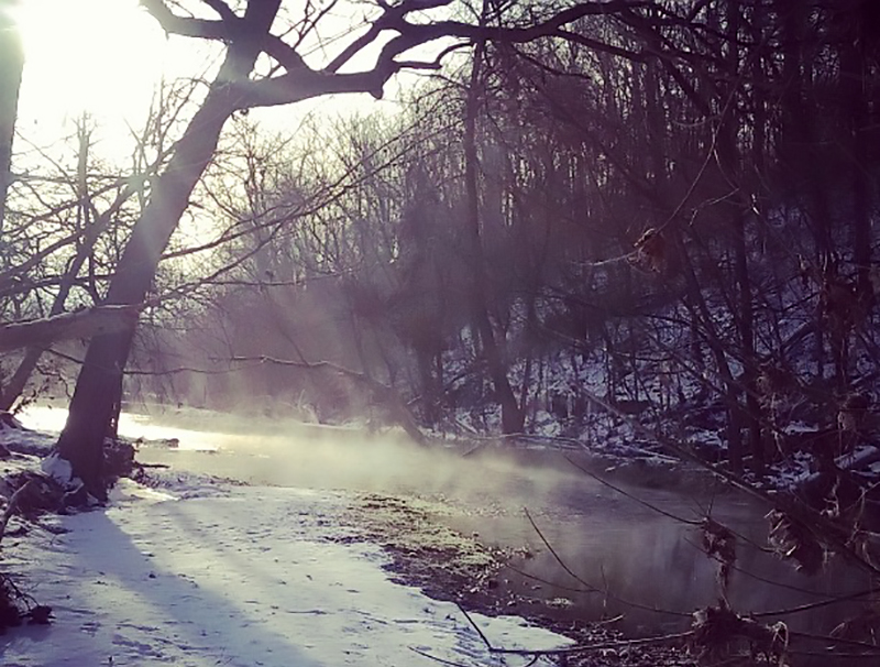 Crane Creek on a cold winter morning. Photo: Casey Callison.