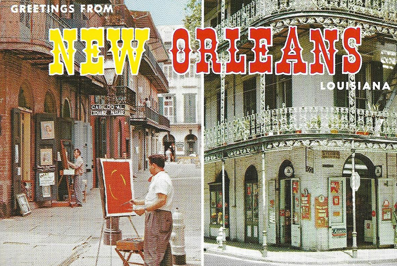 New Orleans vintage postcard