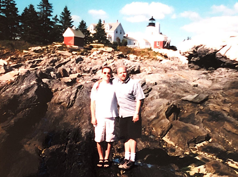 Ted Allen and Barry Rice snapshot from Boothbay, Maine