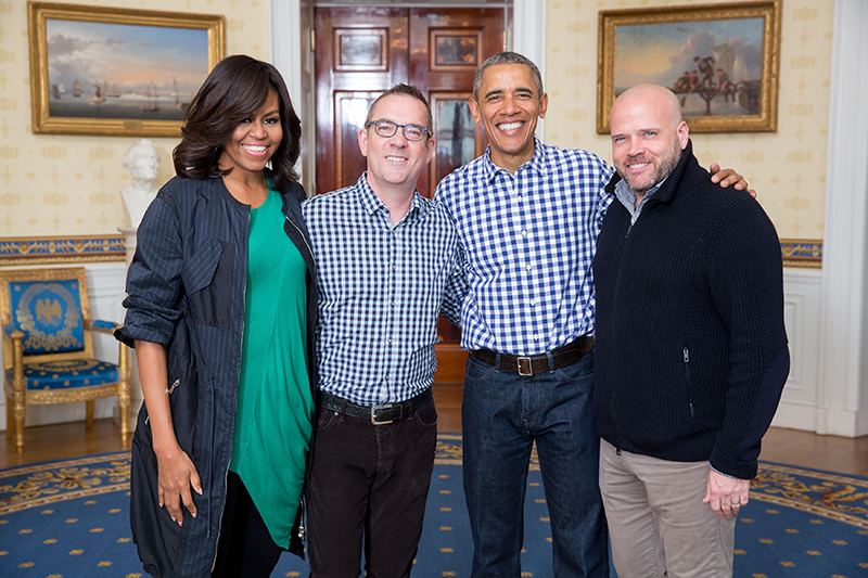 Ted Allen with President Obama